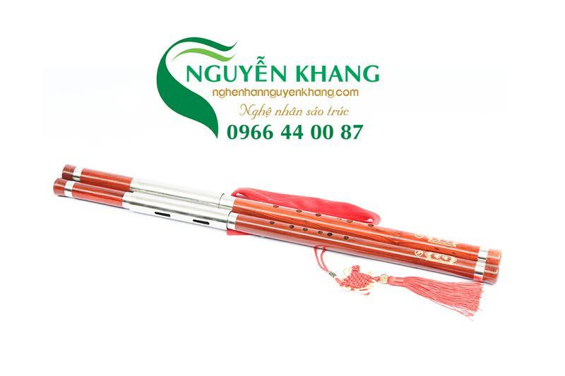 sáo mèo kép gỗ hồng mộc