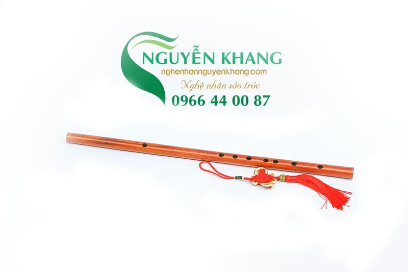 sáo gỗ hồng mộc tone đô k5